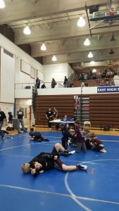 Waiting for next round at Lincoln East